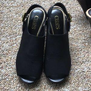 Super cute Chaps heeled sandals size 6.5